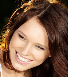 stock photo of a smiling young woman